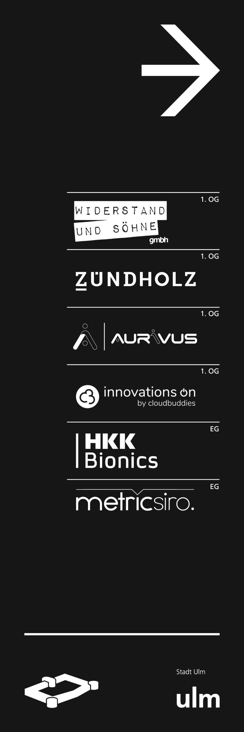 Logos der Firmen in der Wilhelmsburg